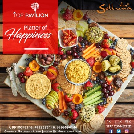 An ensemble of flavours served to perfection. Relish variety of devilishly delectable dishes at Top Pavilion. Call - 9910016146, 9953636146, 9999596146 Visit- http://www.sollunaresort.com Mail- sales@sollunaresort.com #TheSollunaResort #JimCorbett #monsoontime  #rainvibes #coolclimate
