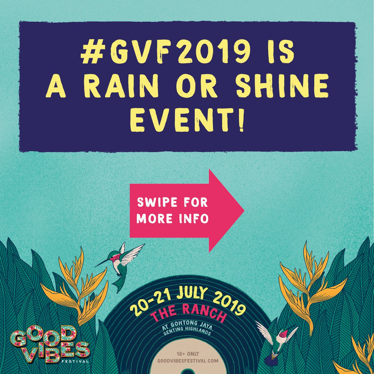 Be prepared for #GVF2019 come rain or shine.  #LiveYourMusic<br>http://pic.twitter.com/f5xu3O3k4f