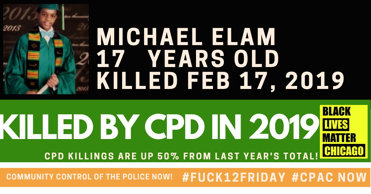 Michael Elam was chased from his uncle's car by police and shot to death. #Fuck12 #Fuck12Friday #Justice4MichaelElam