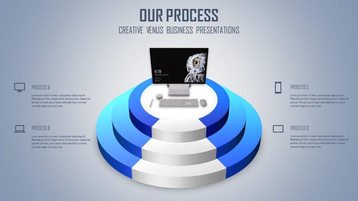 Workflow, Infographic, Growth, Ranking Slide Design in