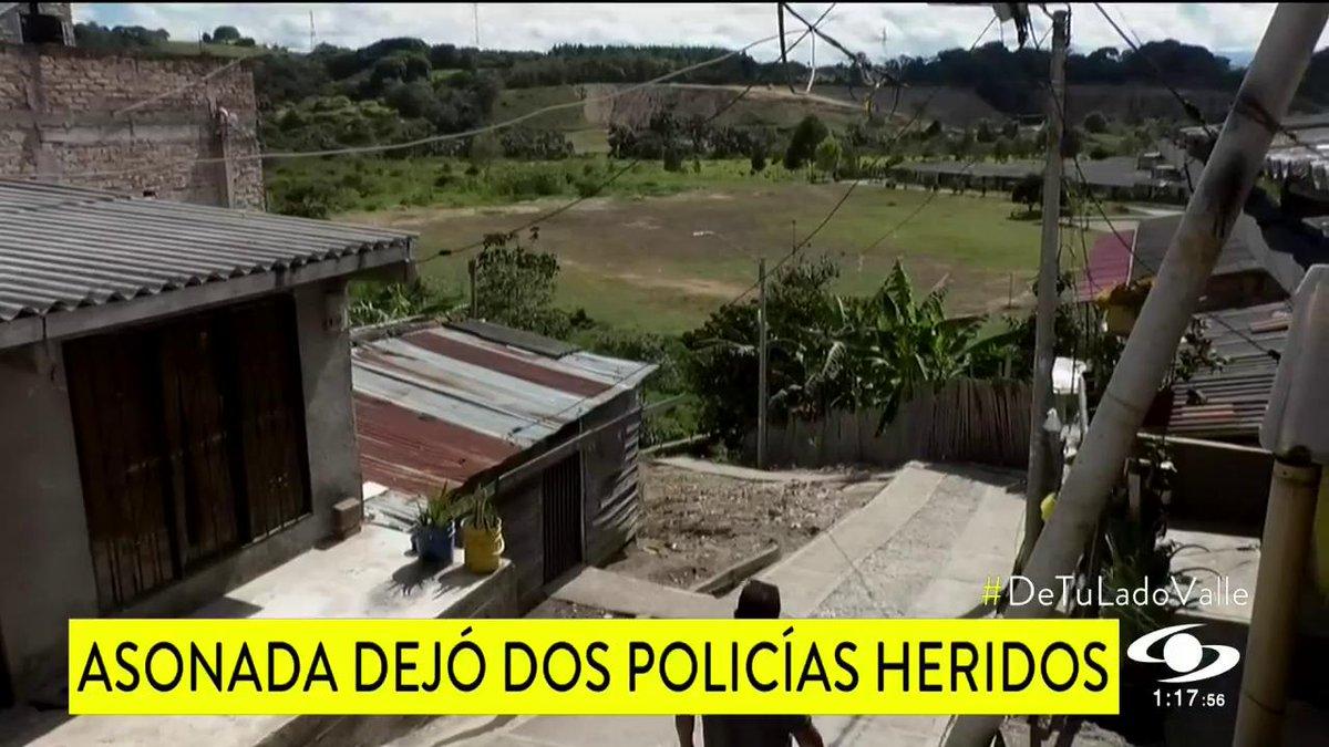 Dos policías resultaron heridos en asonada en Popayán http://noticiascaracol.com