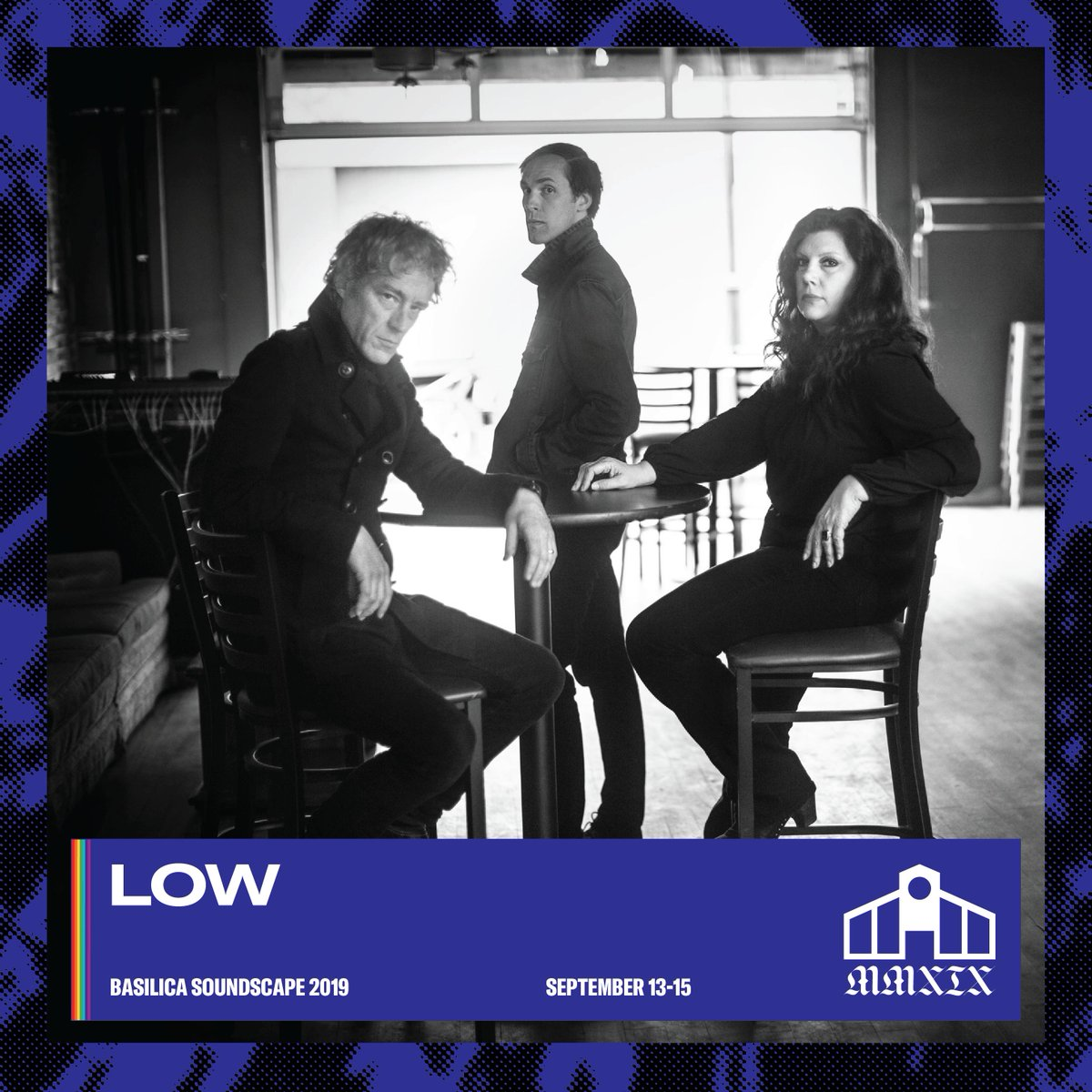 Nine weeks today @lowtheband play Basilica SoundScape. Weekend and day passes selling 🔥 FAST 🔥 bit.ly/basilicasounds… #BSS19