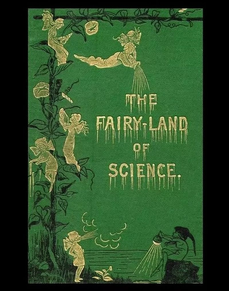"""The Fairy-Land of Science (1878) by Arabella Burton Buckley. """"For they remember yet the tales we told them - Around the hearth, of fairies, long ago, - When they loved still in fancy to behold them - Quick dancing earthward in the feathery snow .."""" #BookIllustrationOfTheDay <br>http://pic.twitter.com/bh6tYuuMc9"""