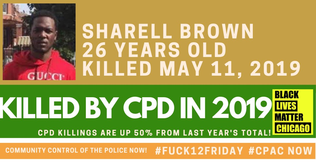 Sharell Brown was chased by an officer and shot and killed. #Fuck12Friday #Fuck12 #Justice4JoshuaBeal