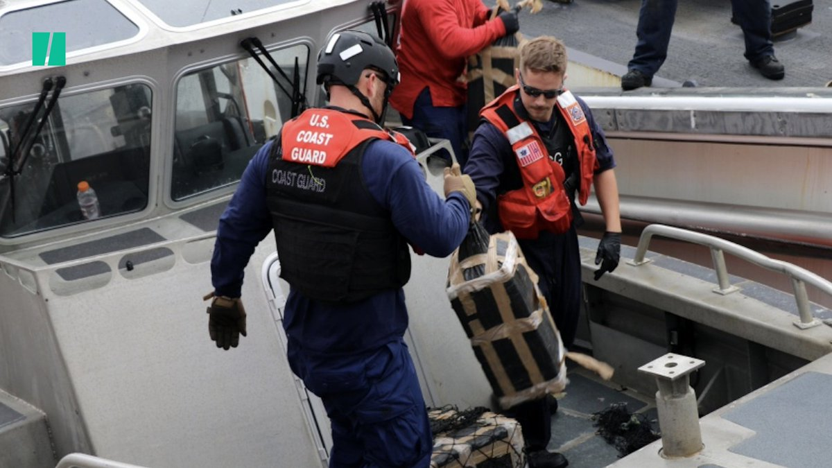 In a heart-pounding video, a U.S. Coast Guard service member busted a speeding semi-submersible boat carrying cocaine.