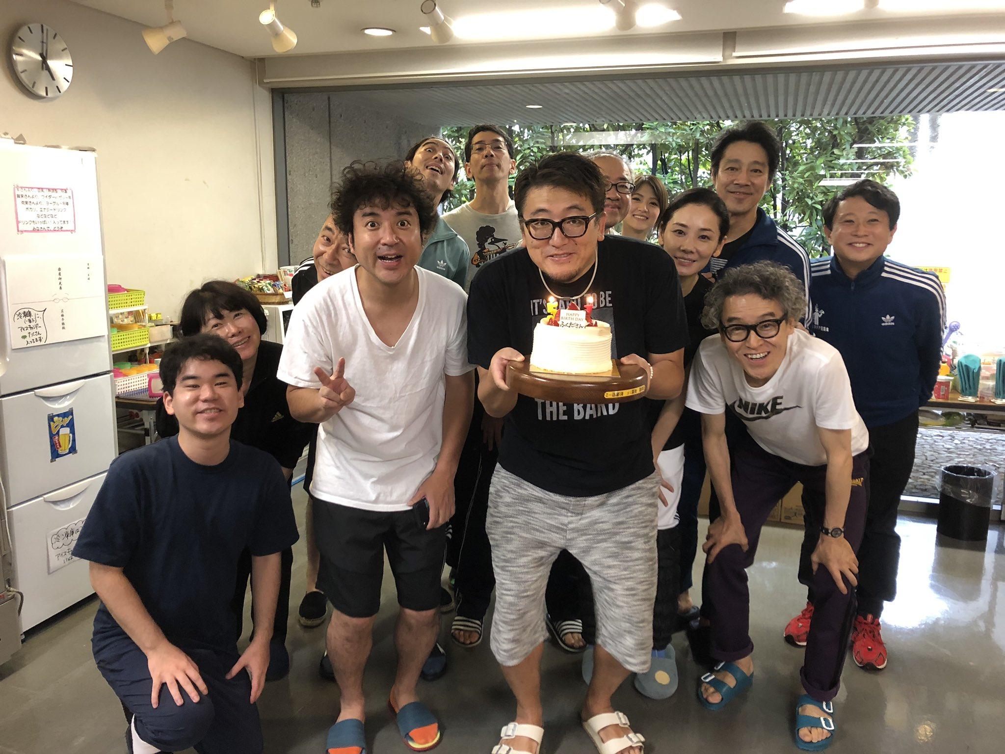 祝!福田監督の誕生会に「今日から俺は」の三橋と伊藤もお祝いに駆け付けたw