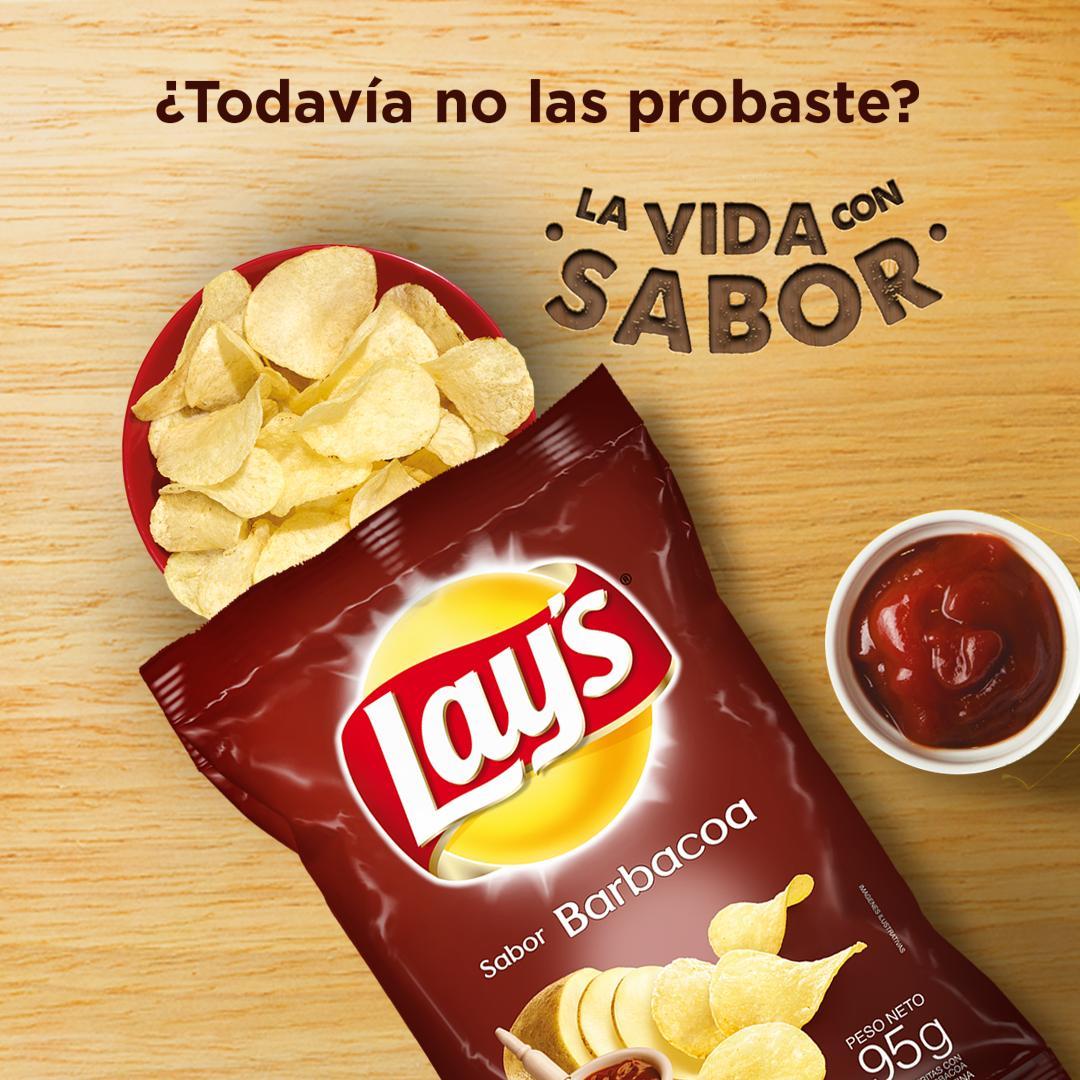 Nuevas papas LAY'S® sabor Barbacoa. ¡No te las podés perder! #LaVidaConSabor #Lays #Barbacoa https://t.co/SIgqZ6pUYD