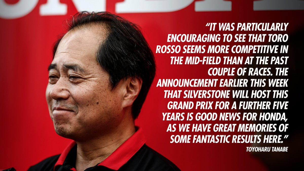 """Although, like everyone, we had to deal with a new track surface and blustery winds, we had a smooth and trouble free day.""  Tanabe-san 🗣️  #BritishGP #PoweredByHonda https://t.co/tp84CGY6hL"