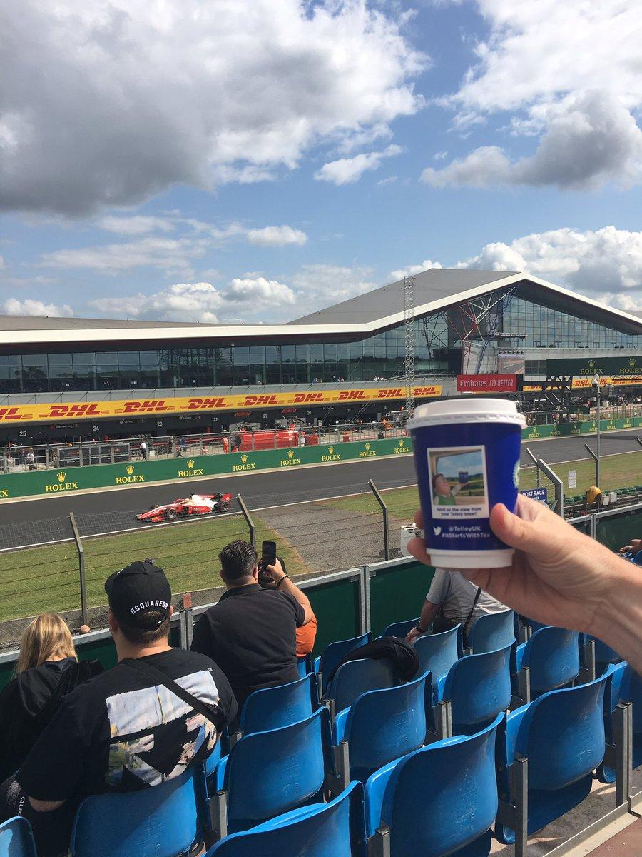 #ItStartsWithTea @tetleyuk  At Silverstone for The British GP #F1