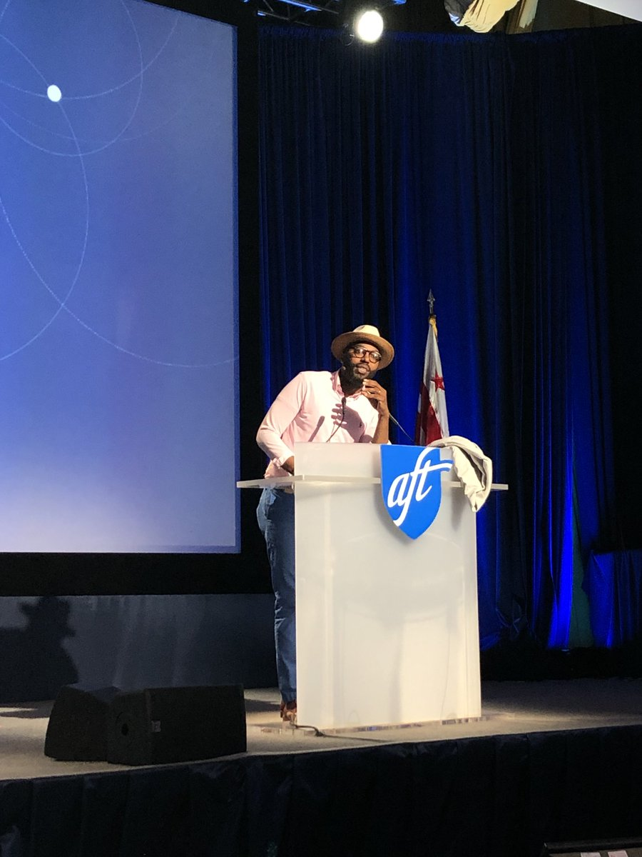 """""""My credentials don't dictate what I do, my ability to touch the soul dictates what I do."""" - @chrisemdin #TEACH19"""