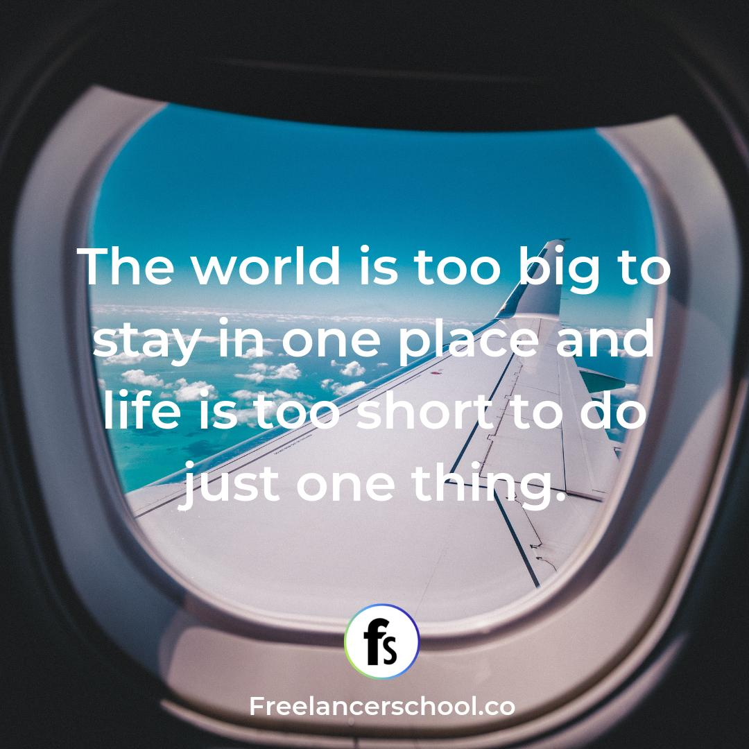 Learn how to #beyourownboss and work from ANYWHERE ✈️#freelance
