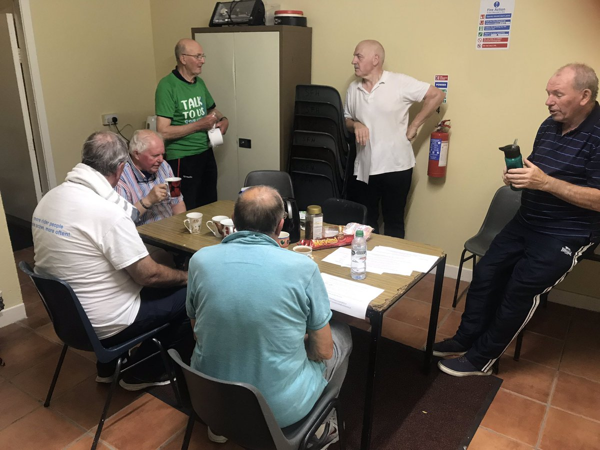 A few of the men from our walking football taking a well deserved break for a cuppa  @FAIreland @FAICarlow #walkingfootball #Carlow #ActiveCarlow #SportCarlow<br>http://pic.twitter.com/tHjmLpgNxv