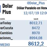 Image for the Tweet beginning: Dólar paralelo en Venezuela (en