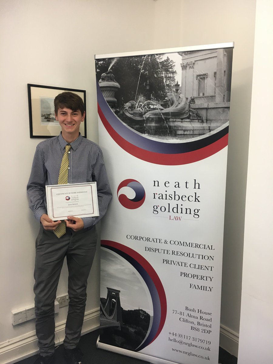 test Twitter Media - It has been an absolute pleasure to have James Bennion here from Winterbourne Academy. The quality of his work and his commitment on placement has been second to none. Hopefully we will see James back soon🌟 #WorkExperience #NeathRaisbeckGoldingLaw #NRGLaw #Law    #BristolLawFirm https://t.co/PldEbPtaIE