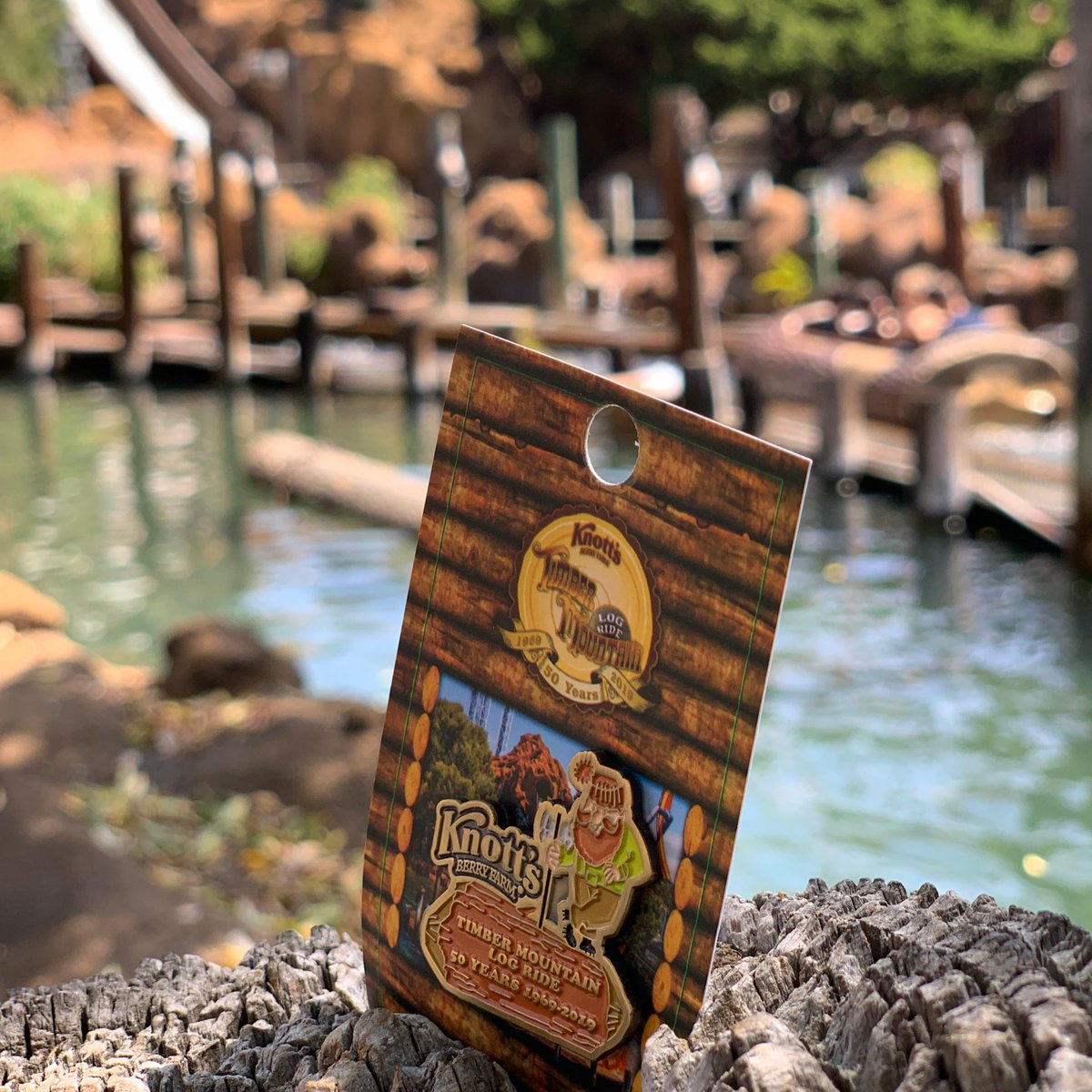 Knott S Berry Farm On Twitter Don T Miss The Anniversary Pin Celebrating Timber Mountain Log Ride Purchase A 6x8 Ride Photo And Receive One For Free The Pin Is Also Available At The