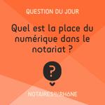Image for the Tweet beginning: La #numérisation chez les notaires