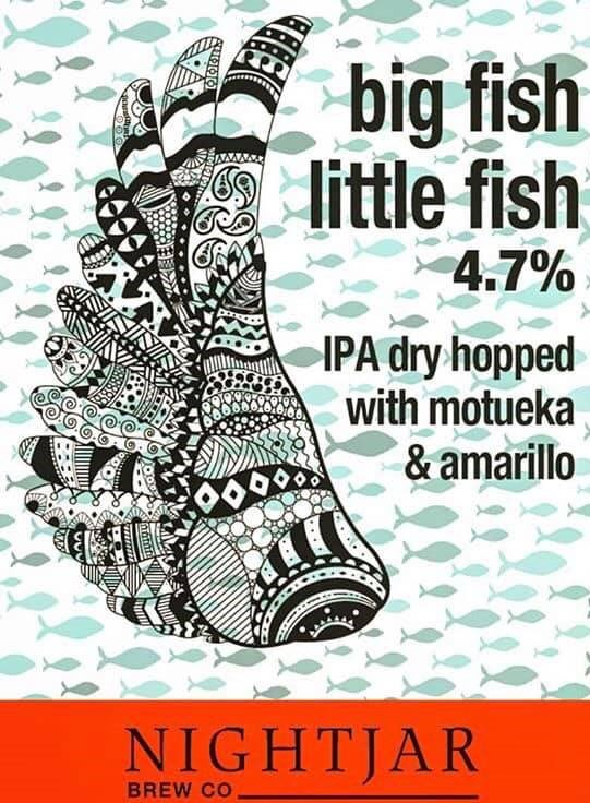 New OTB (Cask) @nightjarbrewco Big Fish Little Fish - IPA 4.7% abv https://nightjarbrew.co.uk/ #Unfined #Hazy ✅ #Vegan @YorkBeer