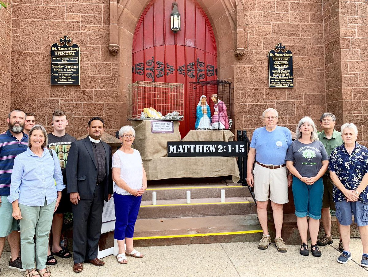 The Holy Family in Zero Tolerance at @st_james_newlondon. Check out our Facebook Live video with @ranjitkmathews and the community of St. James and New London. https://tinyurl.com/yyspzok5 #episcopalwitness #zerotolerance #holyfamily #enoughisenough #newlondon