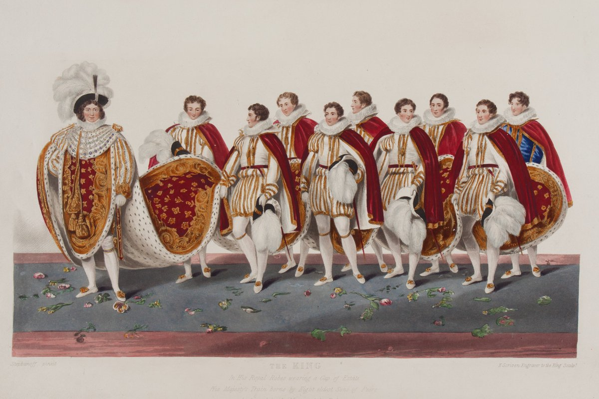 The coronation of George IV took place #OnThisDay in 1821. Here is Sir George Naylors sumptuous commemorative guide to the lavish event. It contains 42 beautifully hand-coloured aquatint plates. #OTD #rarebooks