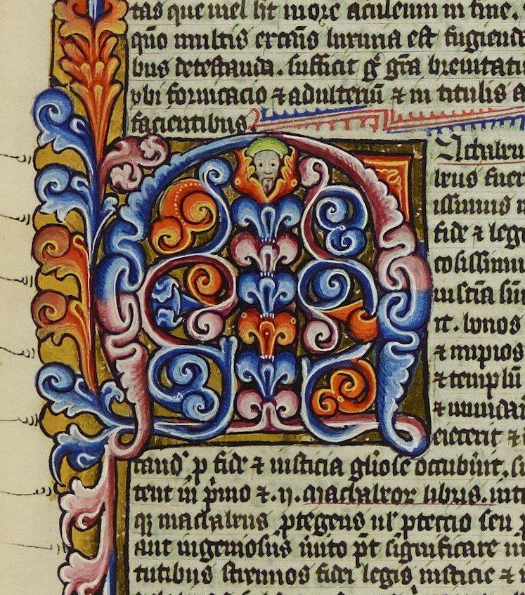 Peekaboo. #MondayMotivaton #medievaltwitter #Marginalia #ManuscriptMonday
