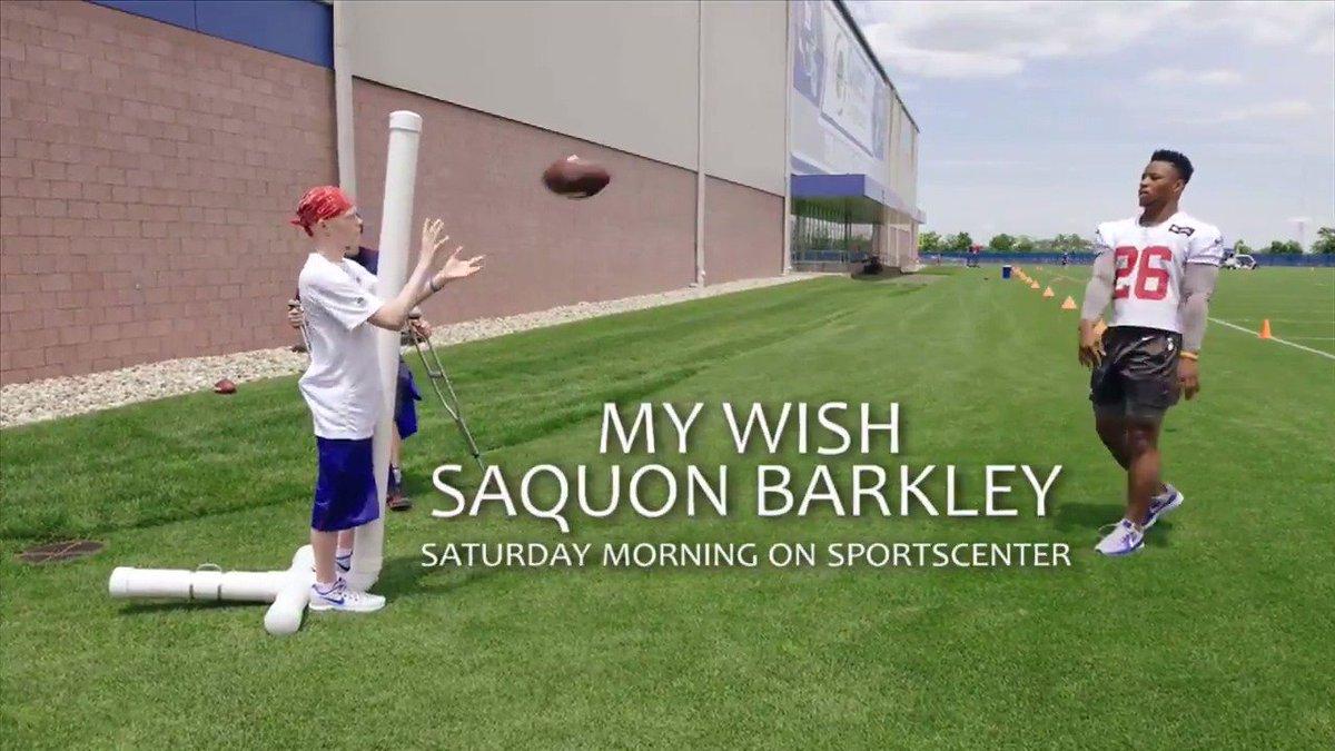 ESPN 'My Wish' Series will feature Giants' Saquon Barkley on July 13