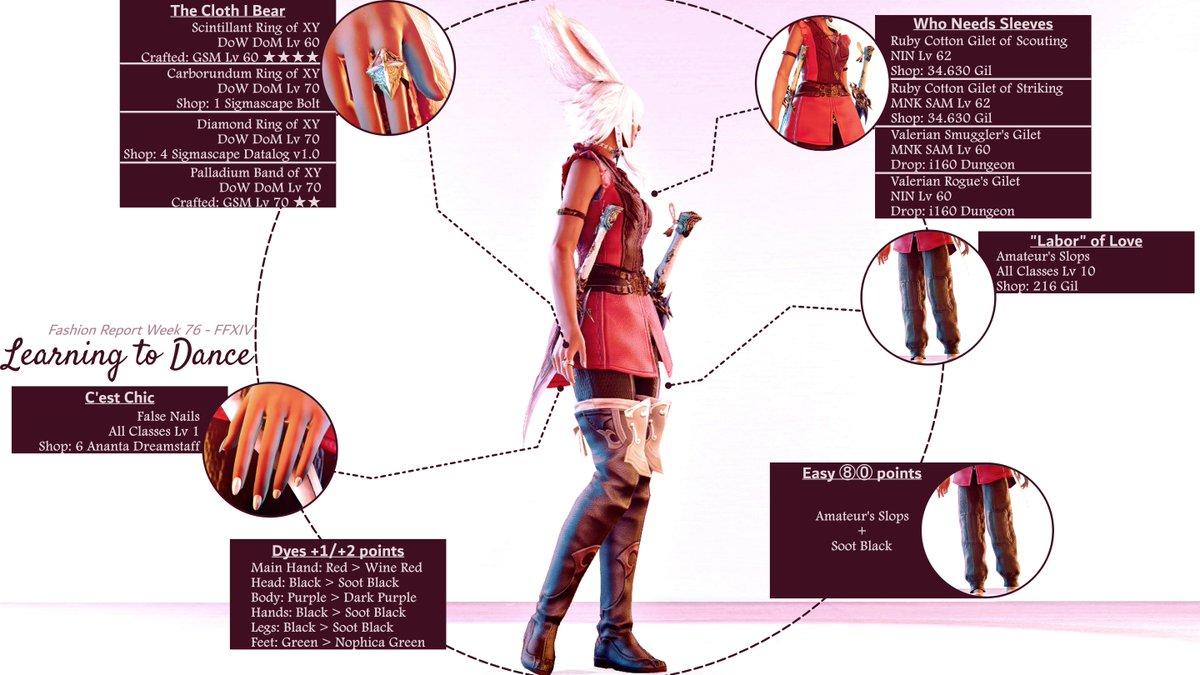 Fashion Report - Week 76 #FFXIV #ff14 #viera #FashionReport