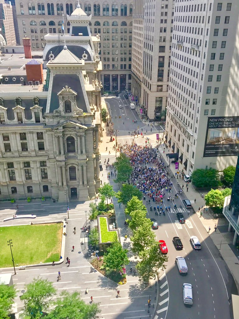 Protests currently ramping up in Philly by City Hall