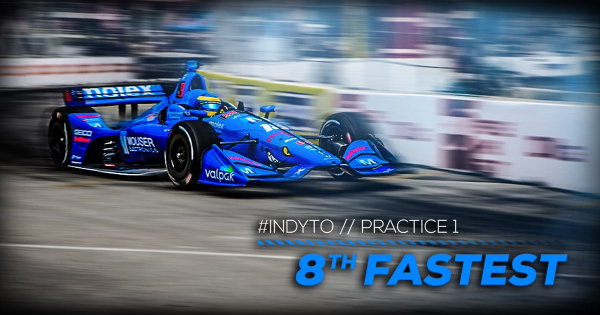 We are ready for #IndyTO practice 2 at 3:15PM after a top-10 time in this morning's session! #INDYCAR