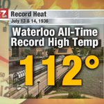 Image for the Tweet beginning: Hottest temperatures on record