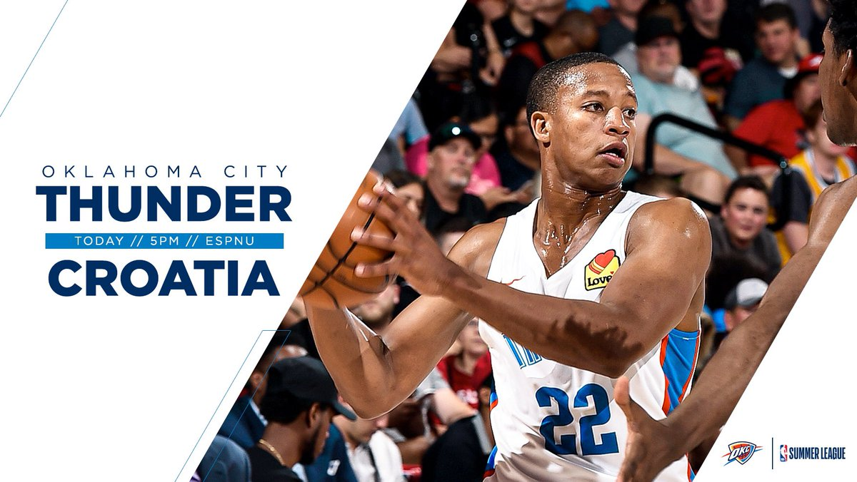 More Summer League action. Tonight on ESPNU!  #ThunderUp » #NBASummer