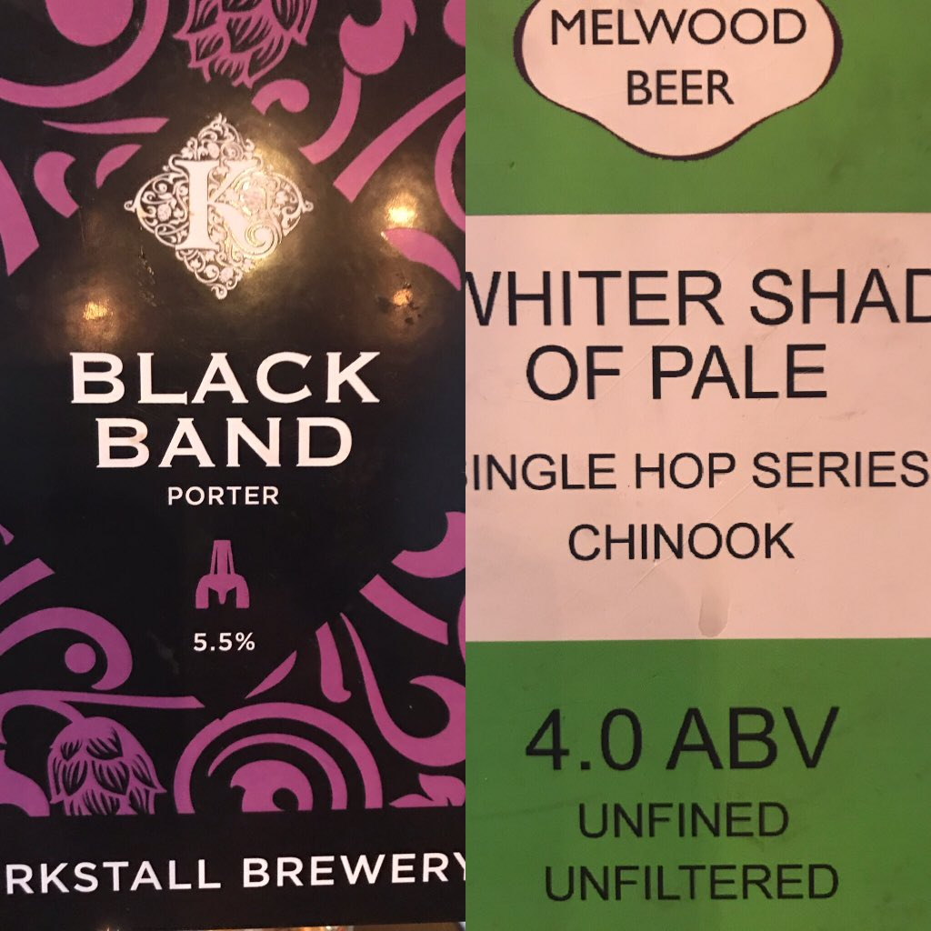 Fresh on the bar tonight. @MelwoodBeerCo @kirkstallbrew #porter #unfiltered #unfined