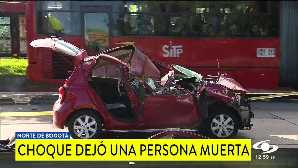 Exceso de velocidad e ingesta de licor, las hipótesis del accidente que dejó un muerto y un herido en Bogotá http://noticiascaracol.com