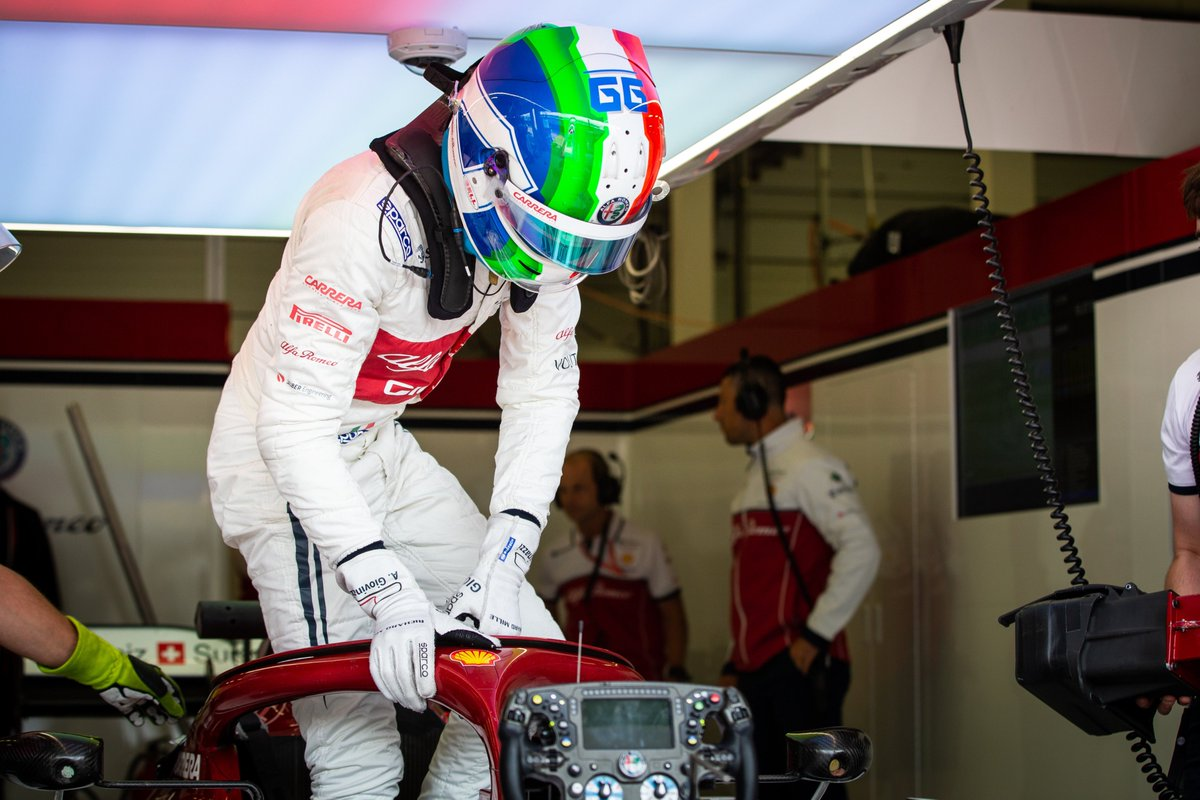 """Antonio 🎙️""""Overall, it was a good first day of action. Everyone is so close in the midfield so we need to find the best setup tonight and have the best possible car to get a good result in qualifying tomorrow.""""  #BritishGP"""
