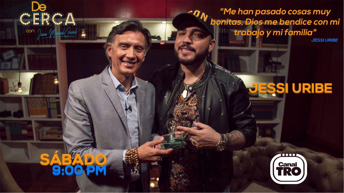 Este sábado escucharemos #DeCerca las historias del cantante Jessi Uribe y su recorrido para alcanzar el éxito.  Sábado 13 de julio 9 pm Canal TRO