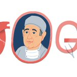 Image for the Tweet beginning: Today's #GoogleDoodle honors Dr. René