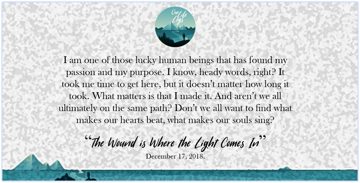 Do you agree with this quote? #FridayMotivation #lifequotes   Read on:  https:// ourlifelogs.com/2019/01/24/the -wound-is-where-the-light-comes-in/   … <br>http://pic.twitter.com/2MdQKzoxvC