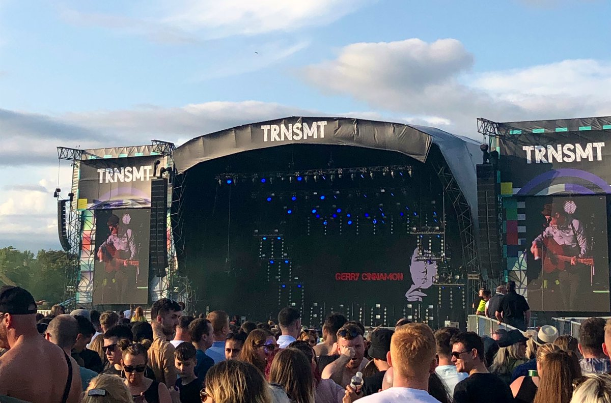 .@GerryCinnamon taking to the Main Stage @TRNSMTfest - the guy LOTS of people are here to see! More from Glasgow Green on @BBCScotNine tonight