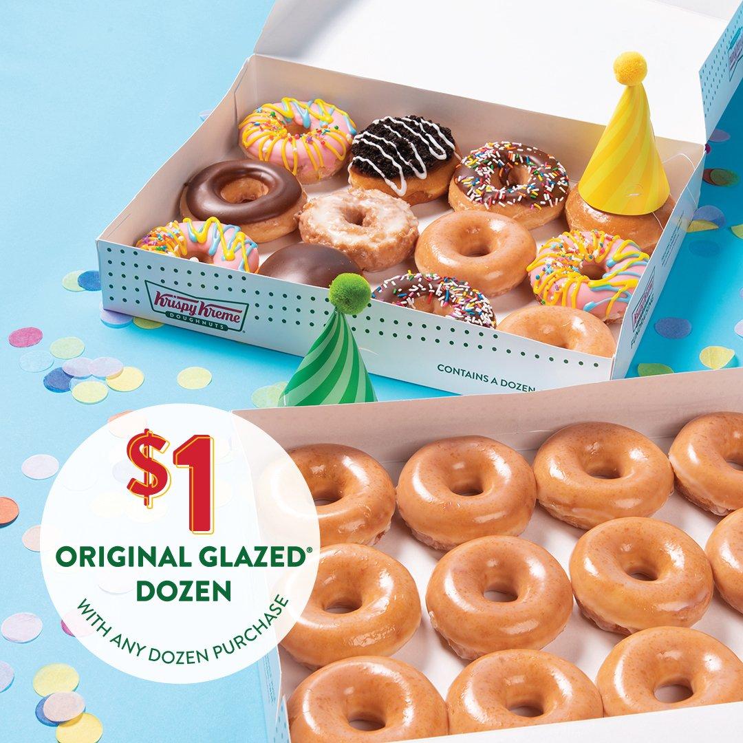 Krispy Kreme On Twitter Happy Birthday To Us Get A 1