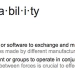 Image for the Tweet beginning: How do you define #interoperability?