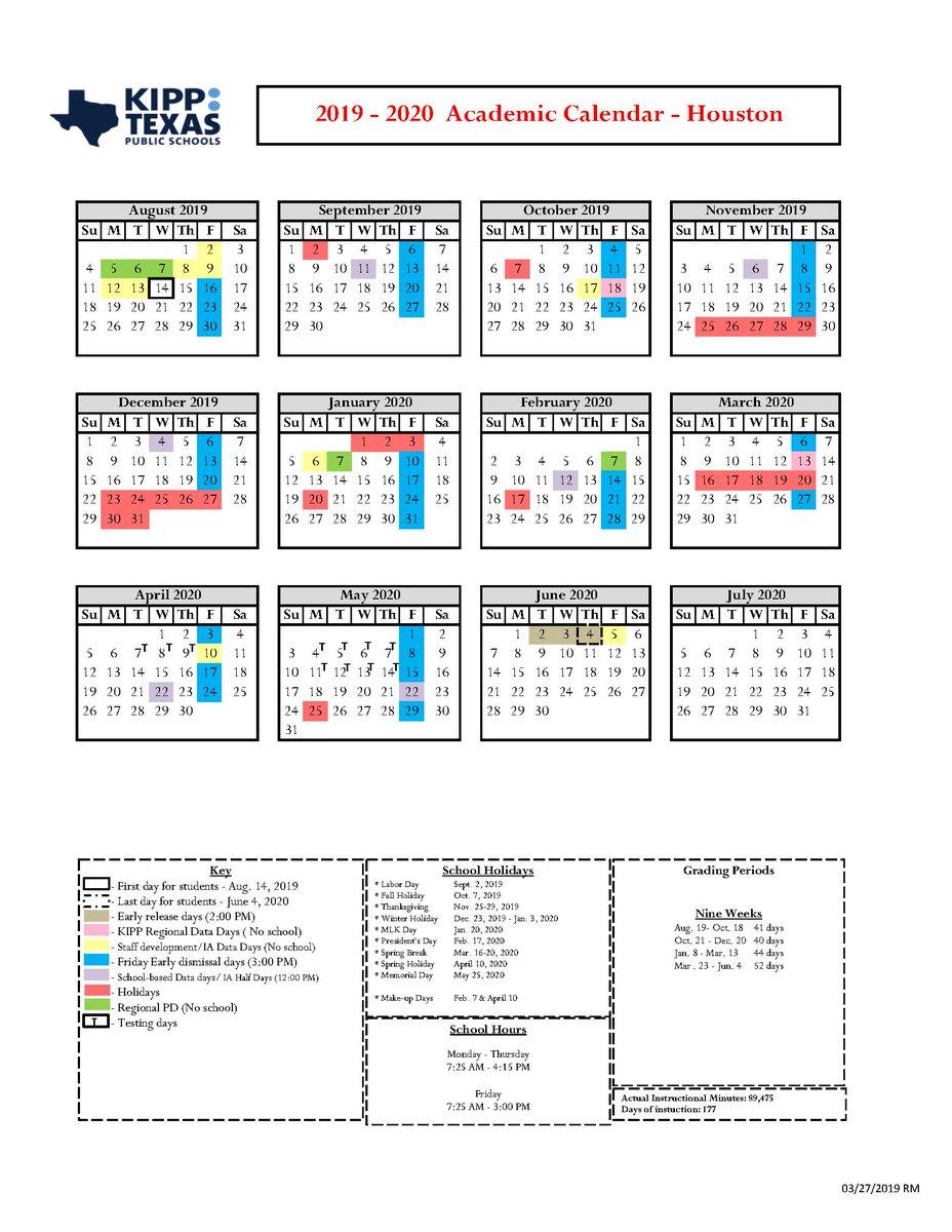 Aps Calendar 2020-16 KIPP Texas Public Schools (@kipptexas) | Twitter