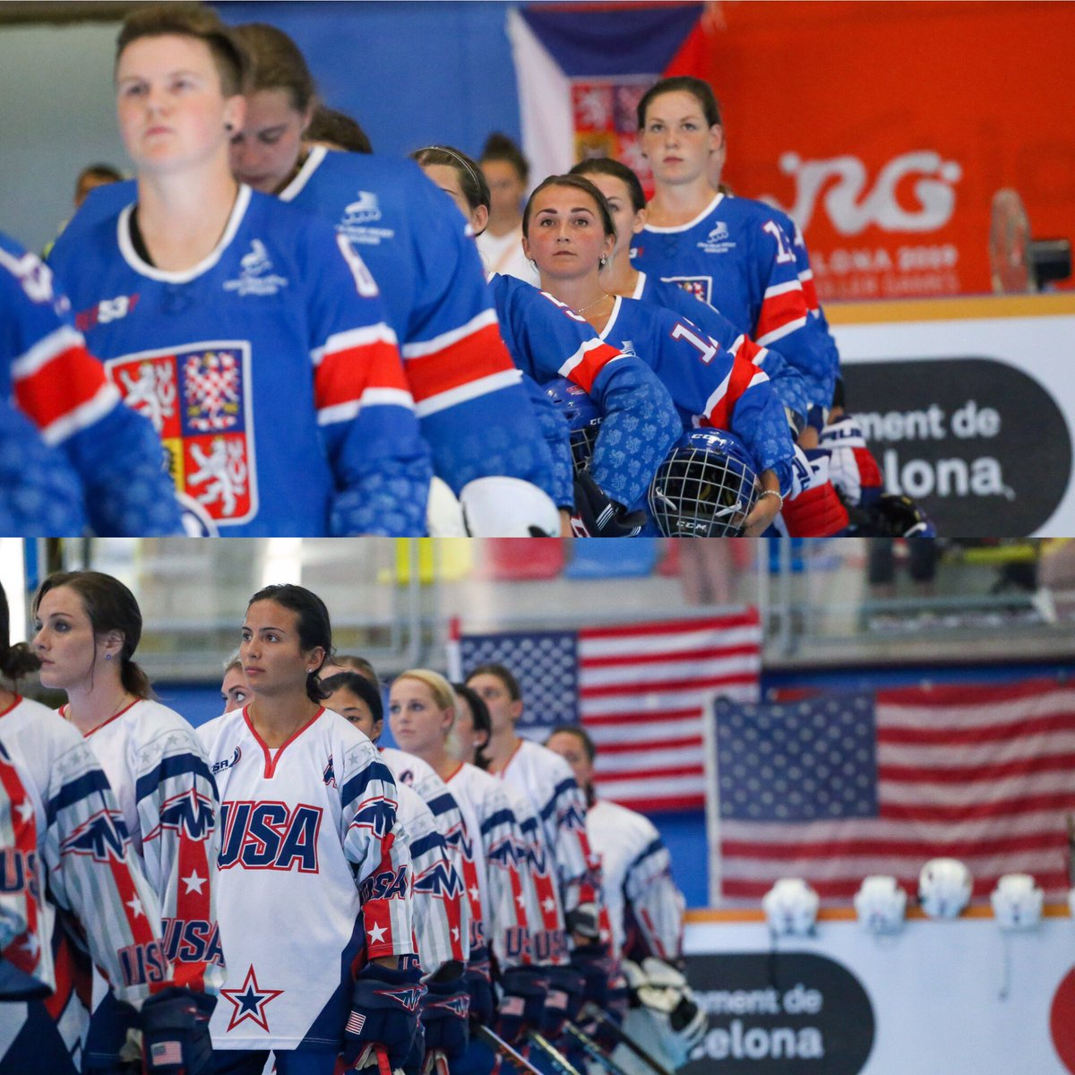 """🥅🏒#inlinehockey🏒🥅#WORLDROLLERGAMES   We have """"the names"""": USA and Czech Republic are in the SENIOR WOMEN Final! http://www.rollergames.tv #Worldskate #WRG2019 #skateaddicted #everybodyloveswheels @TheWorldGames @wrgbarcelona"""
