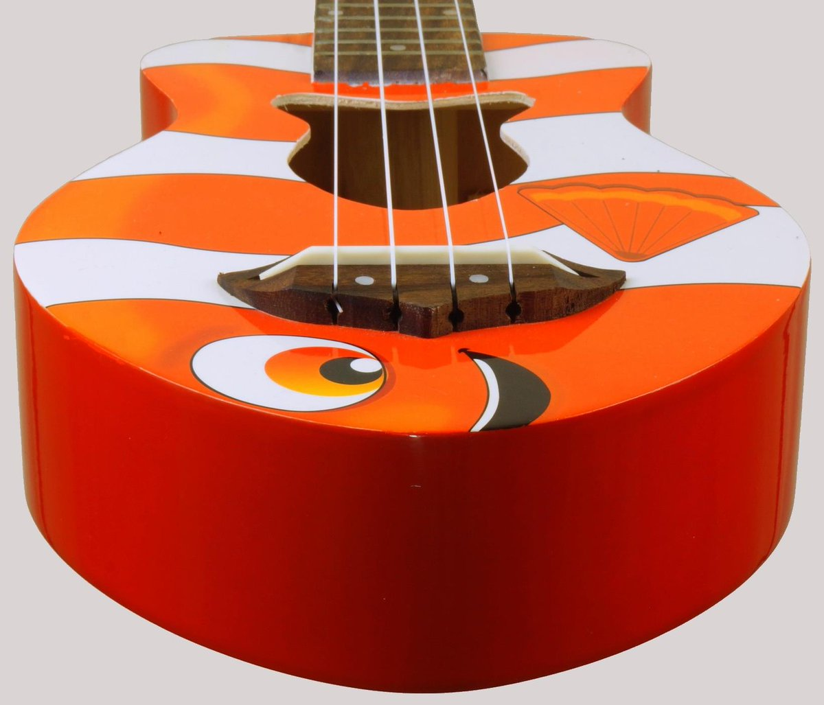 Goldfish guitars fishuku clownuku fish ukulele