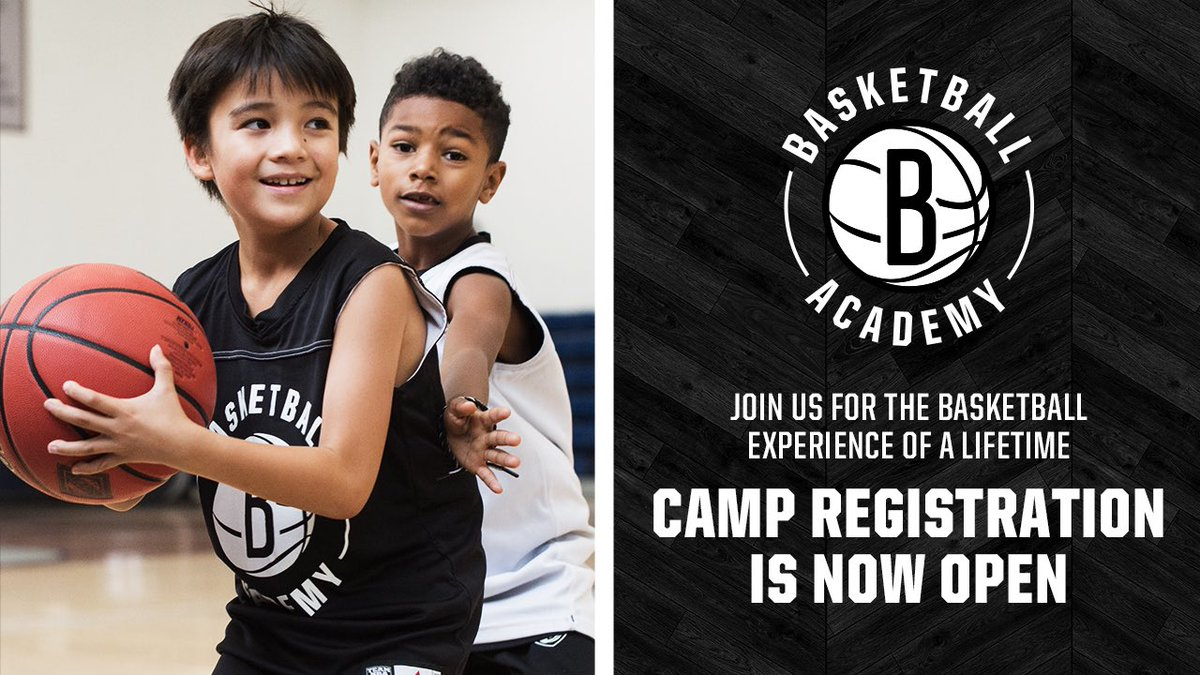 Registration is NOW OPEN for Brooklyn Nets Basketball Academy summer camps! Sign up your kids ages 6-14 to give them a great basketball clinic experience with awesome perks! 🏀☀️  🔗 » http://nba.com/nets/basketballacademy …