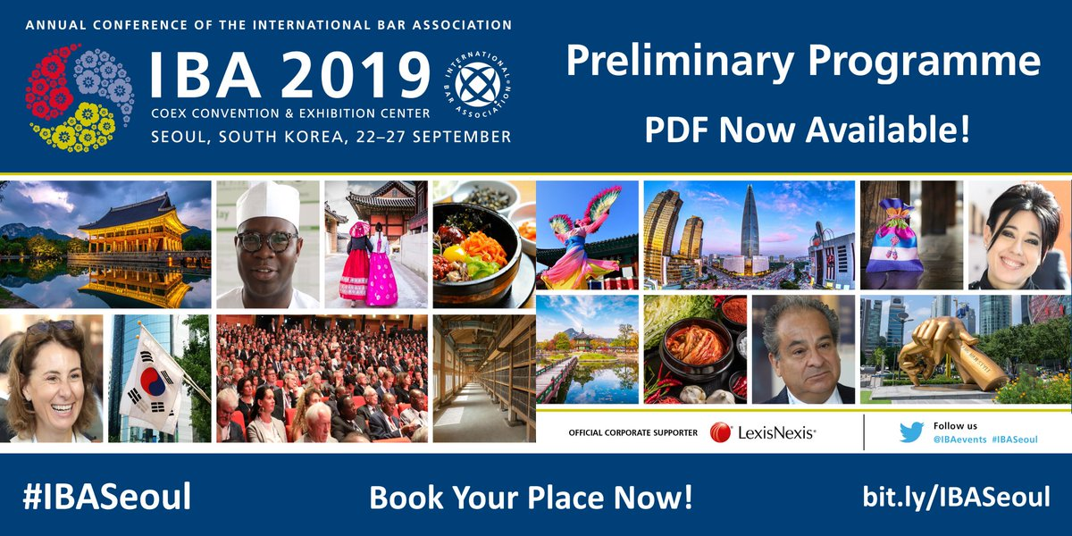 The pdf programme is now available for the IBA Annual Conference