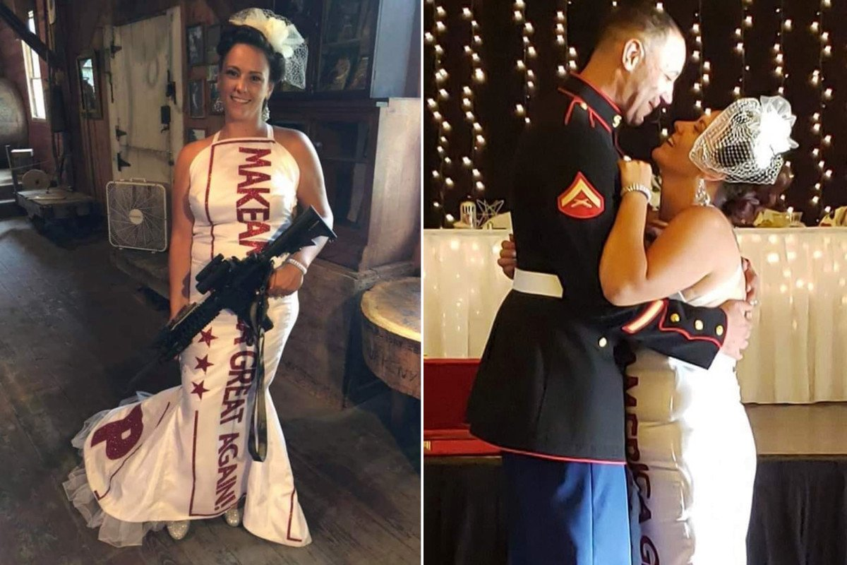 MAGA-themed wedding pays tribute to Trump https://trib.al/eT3ixOK