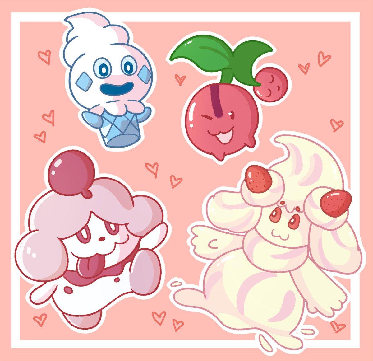 Who wants dessert? #PokemonSwordShield #Alcremie #myart<br>http://pic.twitter.com/1k4z6o3l3t