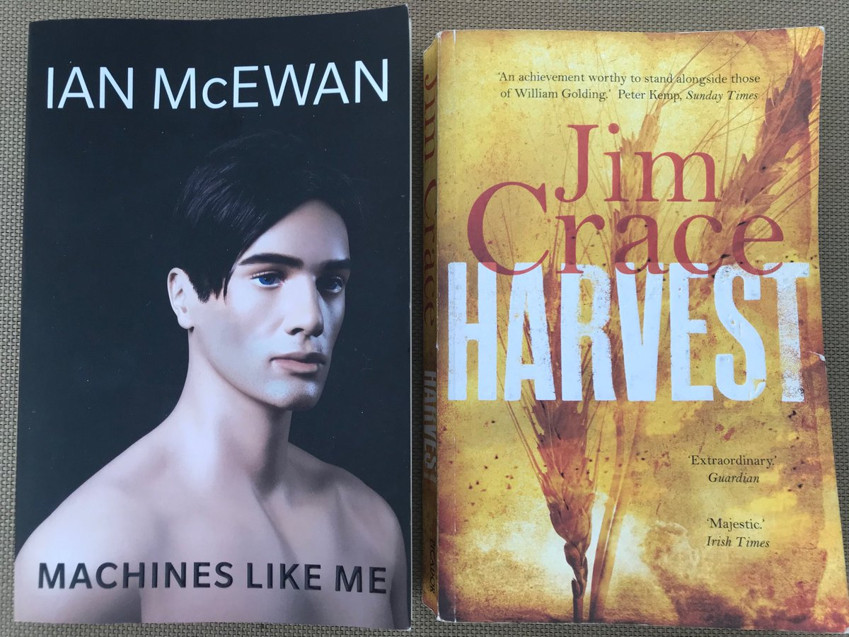 Two great reads from my holidays: AI, robotics, the human condition, consciousness & a startling peak into the future, wonderfully captured by Ian McEwan. The fragility & tragic (self-)destruction of a community as a disruptive future beckons — hypnotic prose by Jim Crace. <br>http://pic.twitter.com/F6mPzVqXHZ