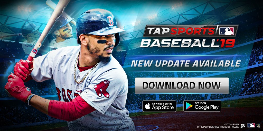 Have you checked out the latest update to MLB TSB 19 yet?  From the Extra Bases mode, the new Field Pass, and even some fun stickers -- 1.2 is quite the update!  Get it now!   http://smarturl.it/TSB19TW