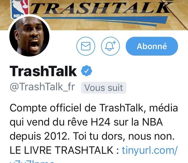 Suivi par @TrashTalk_fr ... Je peux dormir tranquille... (j'ai trop percé)🙏🏼😎
