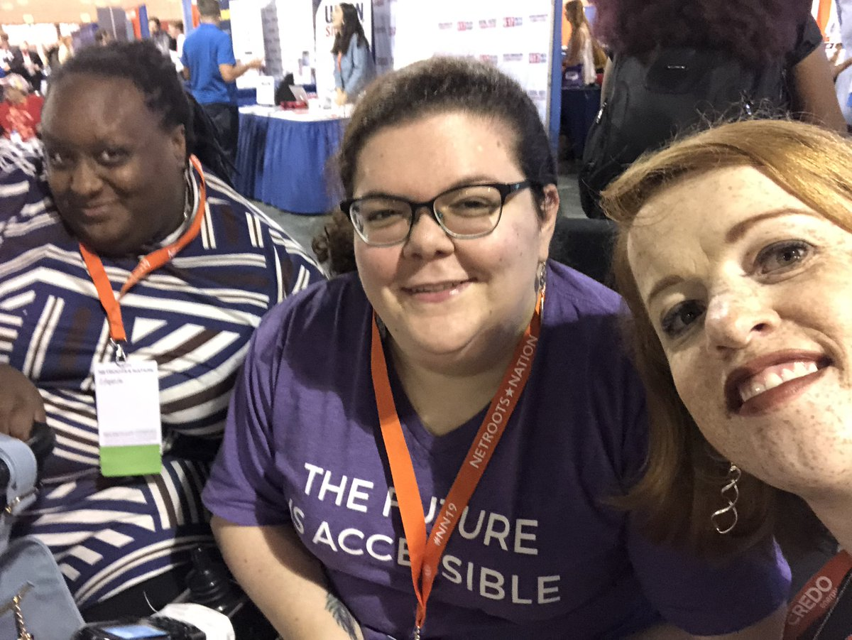 Ran into disability hashtag mavens @emily_ladau & @Imani_Barbarin who were clearly getting into good trouble. #NN19 #CripTheVote<br>http://pic.twitter.com/JPLW2i6E5Q
